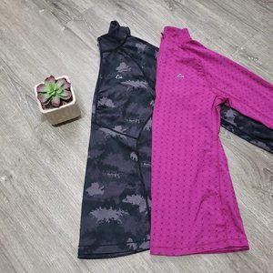 Paradox 1/2 Zip Merino Wool Base Layer Lot Of 2 M